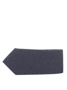 Sivá vzorovaná kravata Selected Homme New