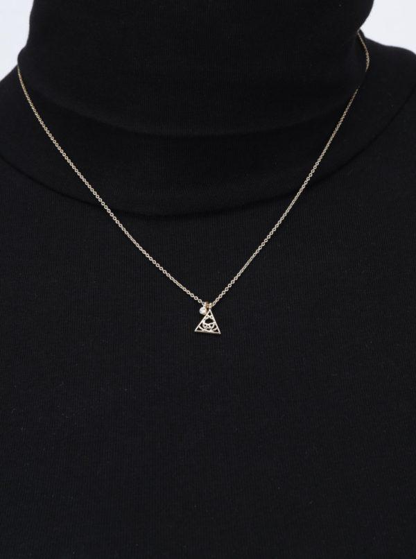 a50c4fa29 Pozlátená retiazka s príveskom v tvare trojuholníka Pilgrim | Moda.sk