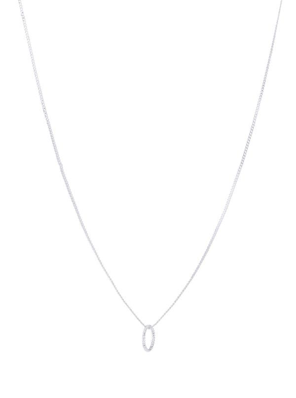 Postriebrená retiazka s príveskom v tvare kruhu Pilgrim