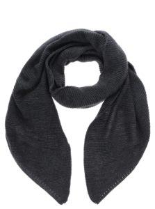 Tmavosivý pletený šál VERO MODA Misty