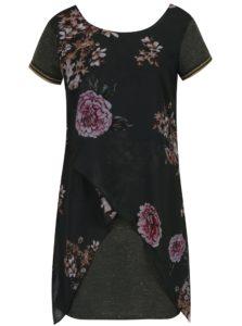 Tmavozelené kvetované šaty Desigual Kina