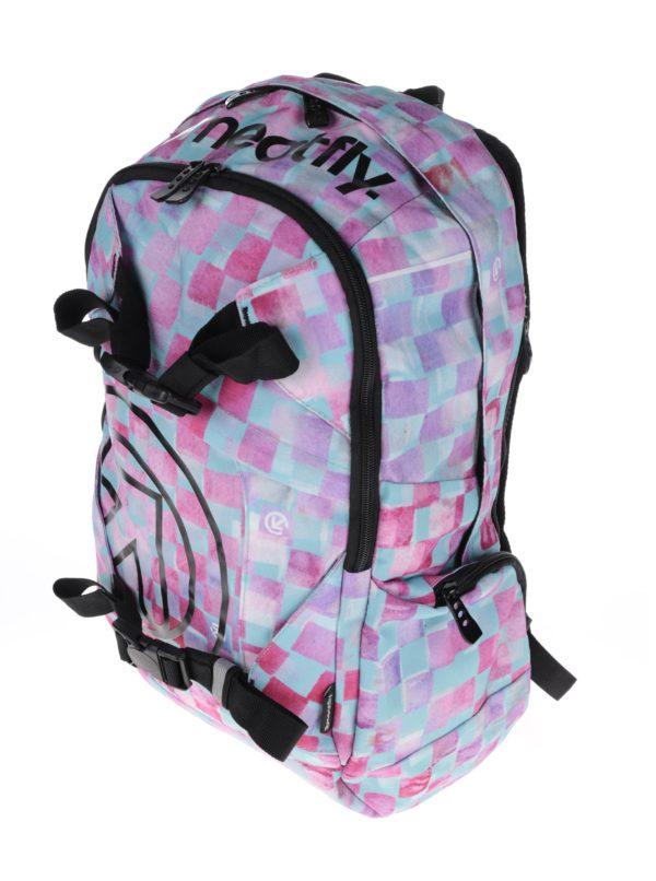 Zeleno-ružový kockovaný batoh Meatfly Basejumper 3 20 l  e23127f668a