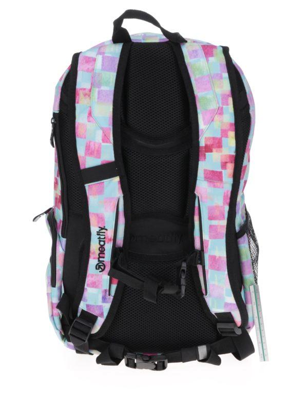 Zeleno-žlto-ružový kockovaný batoh Meatfly Basejumper 3 20 l  b41d61f3791