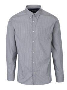 Sivá slim fit košeľa s jemným vzorom Jack & Jones Bosco