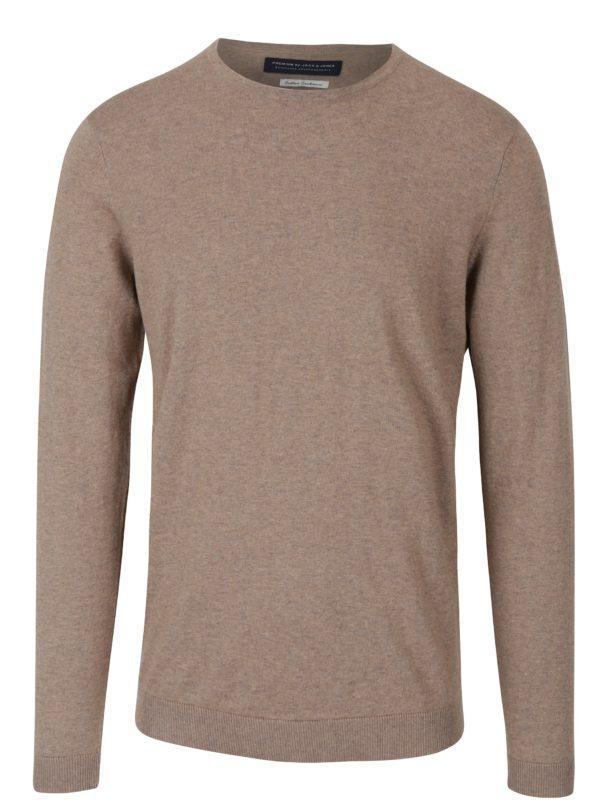 Béžový žíhaný tenký sveter Jack & Jones Luke