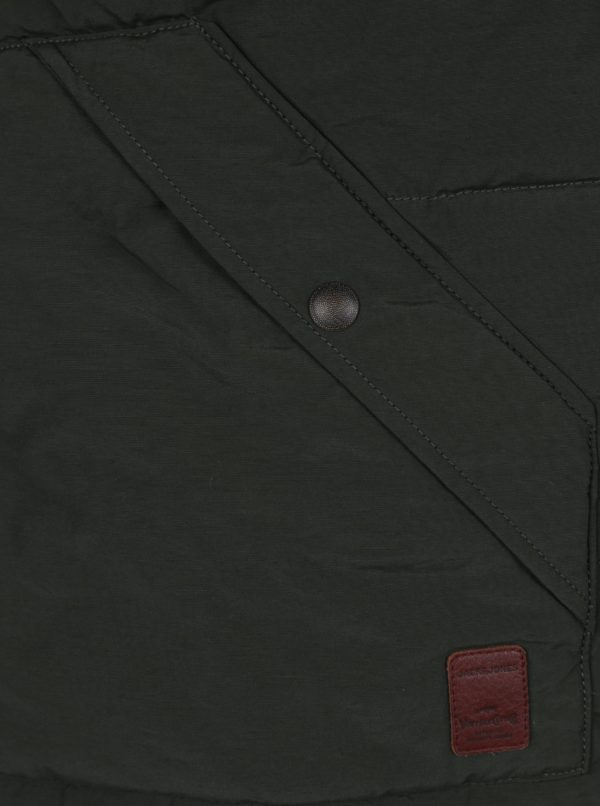 Tmavozelená vesta s vreckami Jack & Jones Ground