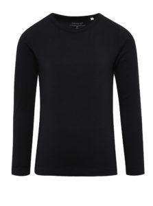 Čierne dievčenské tričko s dlhým rukávom name it Viola