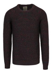 Modro-červený melírovaný sveter s prímesou ľanu Jack & Jones Joey