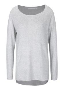 Svetlosivý sveter s predĺženým zadným dielom ONLY Mila