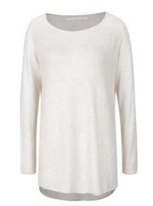 Krémový sveter s predĺženým zadným dielom ONLY Mila
