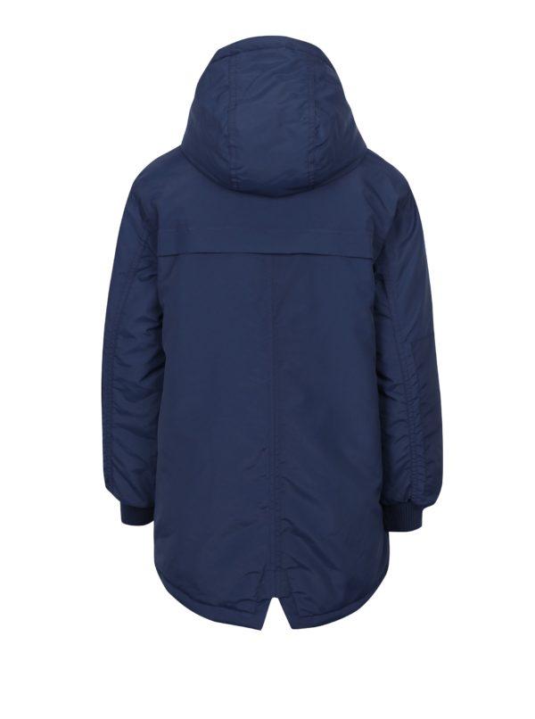 Tmavomodrý chlapčenský zimný kabát LIMITED by name it Morton