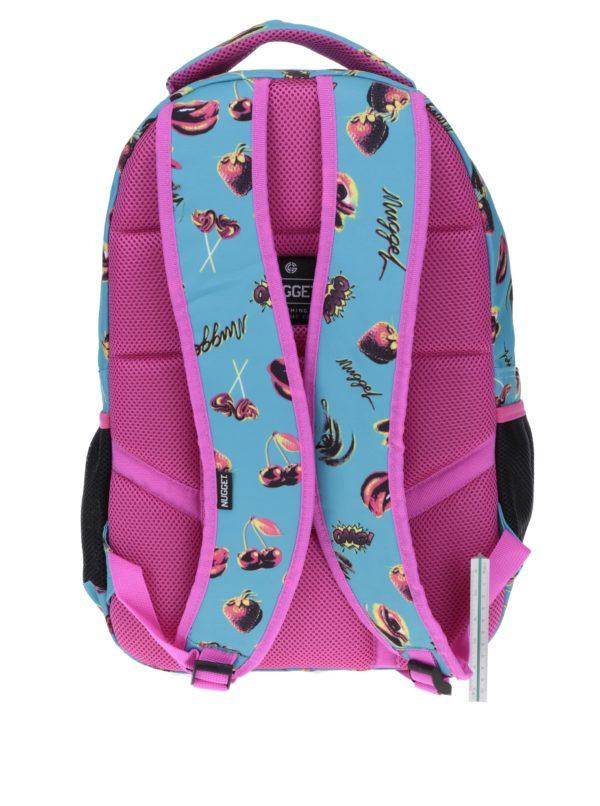 Ružovo-tyrkysový dámsky batoh s potlačou NUGGET Scrambler 26 l