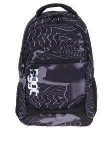 Čierno-sivý vzorovaný batoh NUGGET Scrambler 26 l