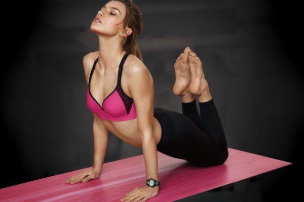 Ružová športová podprsenka s push-up efektom Maidenform