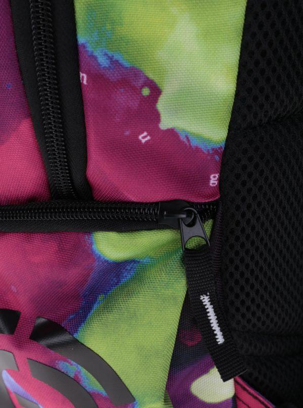 Tmavoružový dámsky vzorovaný batoh NUGGET Bradley 24 l