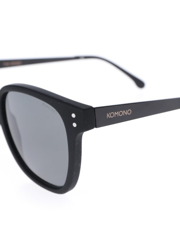 Čierne pánske slnečné okuliare Komono Renee