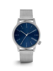 Pánske hodinky v striebornej farbe s nerezovým remienkom Komono Winston Royale