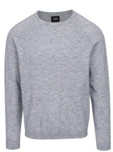 Sivý melírovaný sveter s okrúhlym výstrihom Burton Menswear London