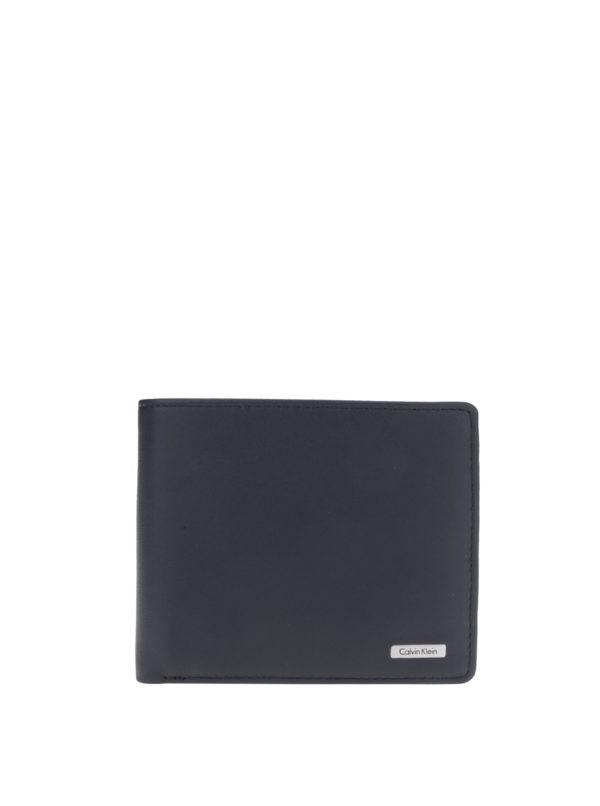 Čierna pánska kožená peňaženka Calvin Klein Rail