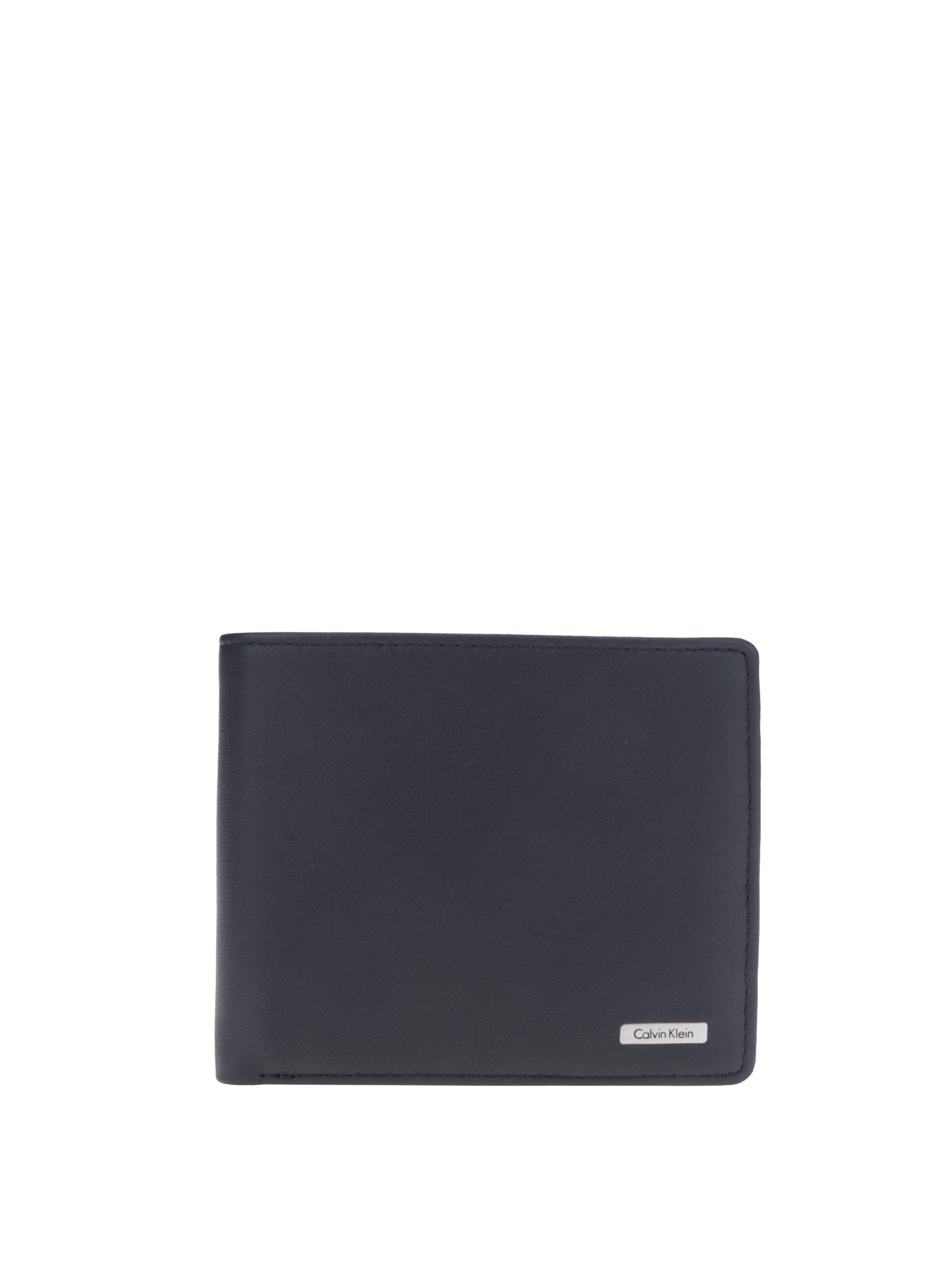 Čierna pánska kožená peňaženka Calvin Klein Rail  09ab6bda074