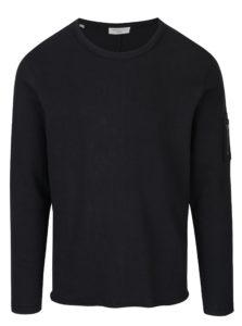 Čierne tričko s dlhým rukávom Selected Homme Daniel