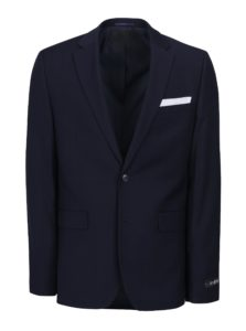 Tmavomodré oblekové slim sako Burton Menswear London
