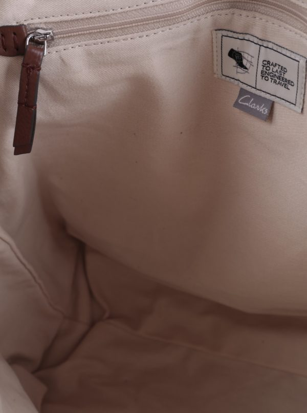Hnedý dámsky kožený batoh Clarks Totterdown Bay