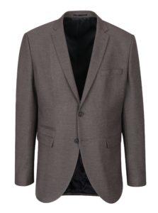Hnedé melírované oblekové sako Selected Homme Done Buffalo