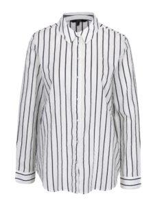 Čierno-krémová pruhovaná košeľa s dlhým rukávom VERO MODA Eia