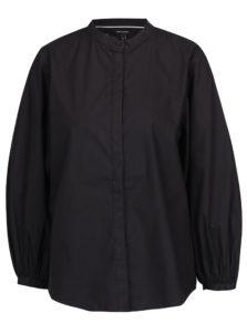 Čierna košeľa s 3/4 balónovým rukávom VERO MODA Thea