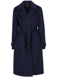 Tmavomodrý kabát s prímesou vlny VERO MODA Jess