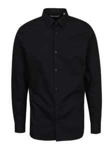 Čierna formálna slim fit košeľa Jack & Jones Non