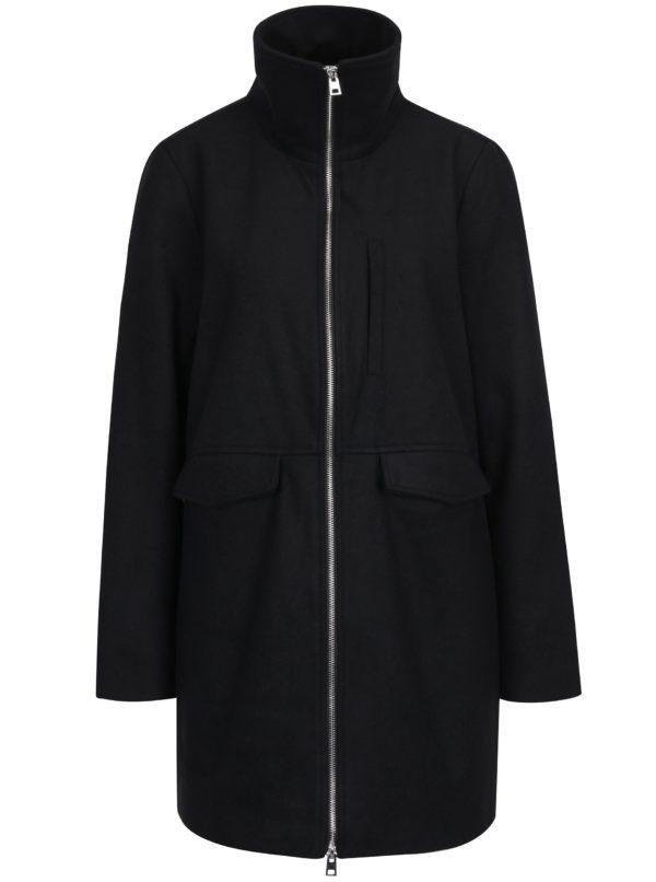 Čierny kabát so zipsom Noisy May Minna