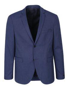 Tmavomodré oblekové slim sako Jack & Jones Peter