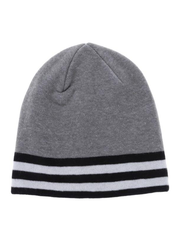 Sivá dievčenská čapica s pruhmi name it Manto