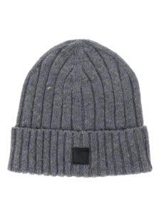 Sivá pletená chlapčenská čapica name it Malle