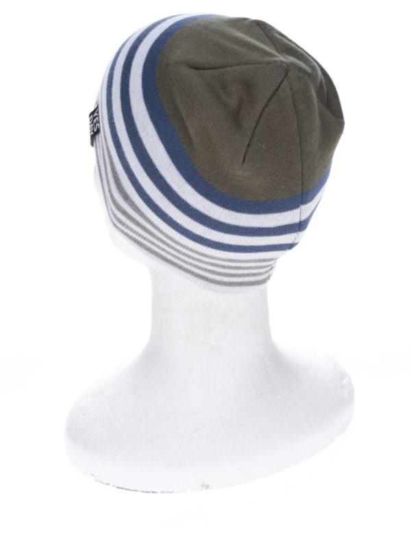 Bielo-zelená chlapčenská čapica s pruhmi name it Manto