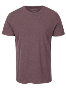Fialové basic tričko Selected Homme Ben