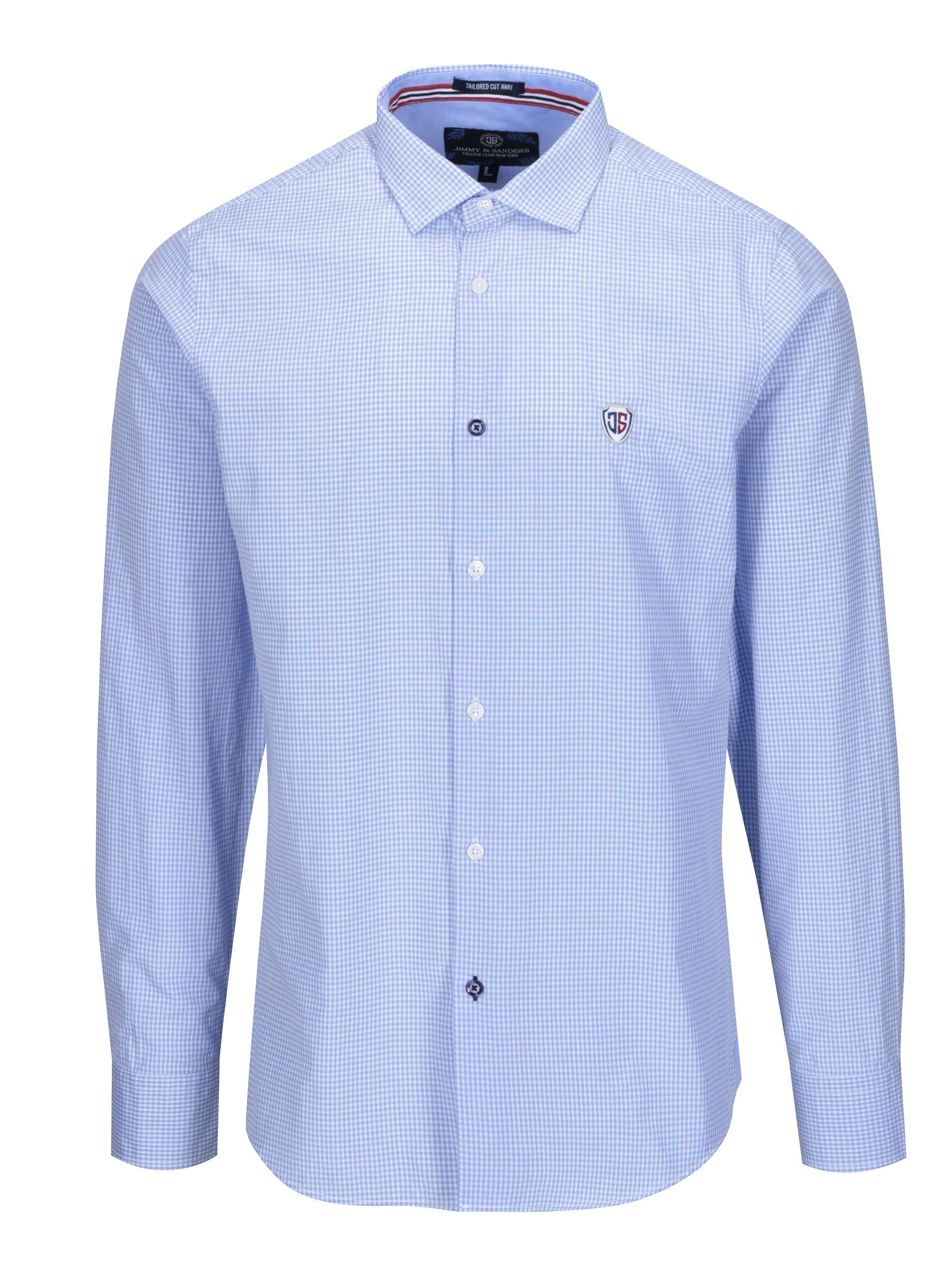76bf9de0cb69 Modrá pánska kockovaná košeľa Jimmy Sanders