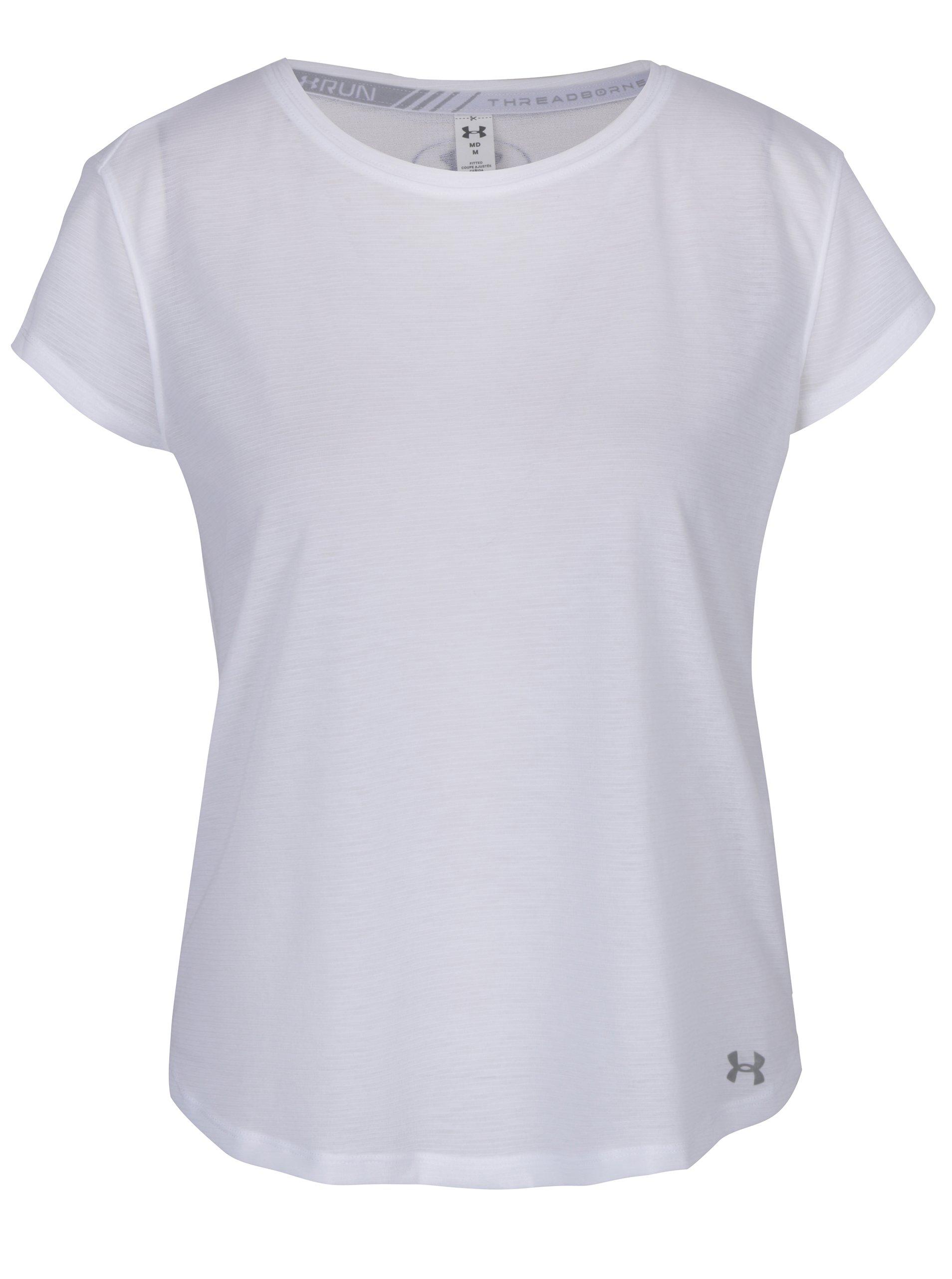 5ea9ad232dc8 Biele dámske funkčné tričko s krátkym rukávom Under Armour
