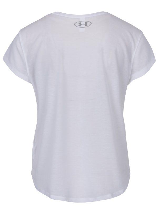 Biele dámske funkčné tričko s krátkym rukávom Under Armour
