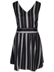 Čierne pruhované šaty Mela London