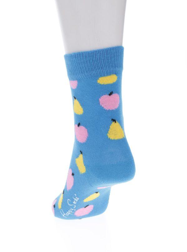 Modré detské ponožky s motívom ovocia Happy Socks Fruit