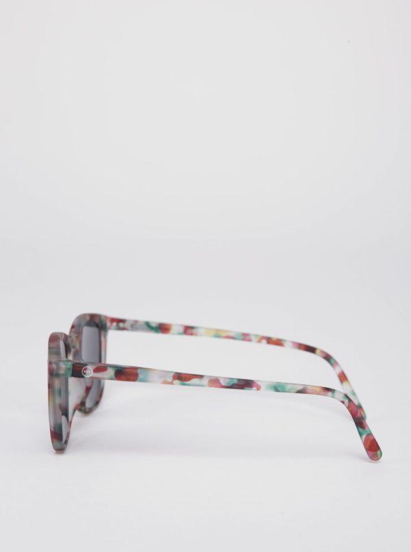 Zeleno-vínové detské maskáčové slnečné okuliare IZIPIZI  #E