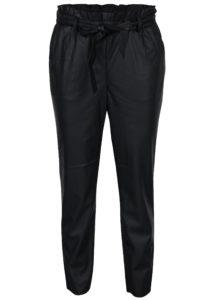 Čierne koženkové nohavice VILA Anja