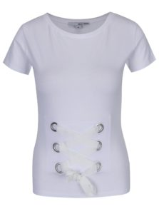 Biele tričko so šnurovaním TALLY WEiJL