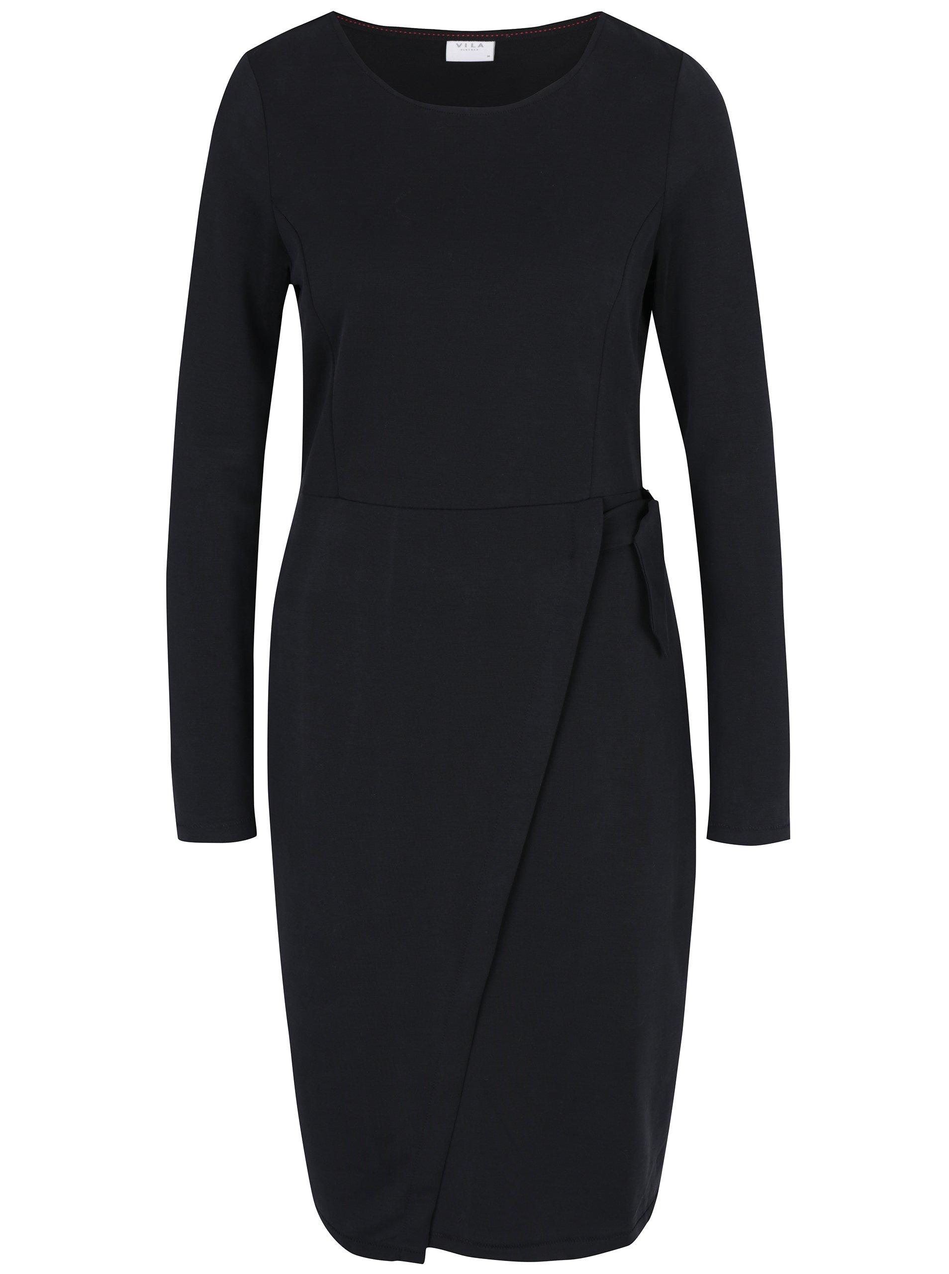 fde14c82b Čierne šaty s dlhým rukávom VILA Jamba | Moda.sk