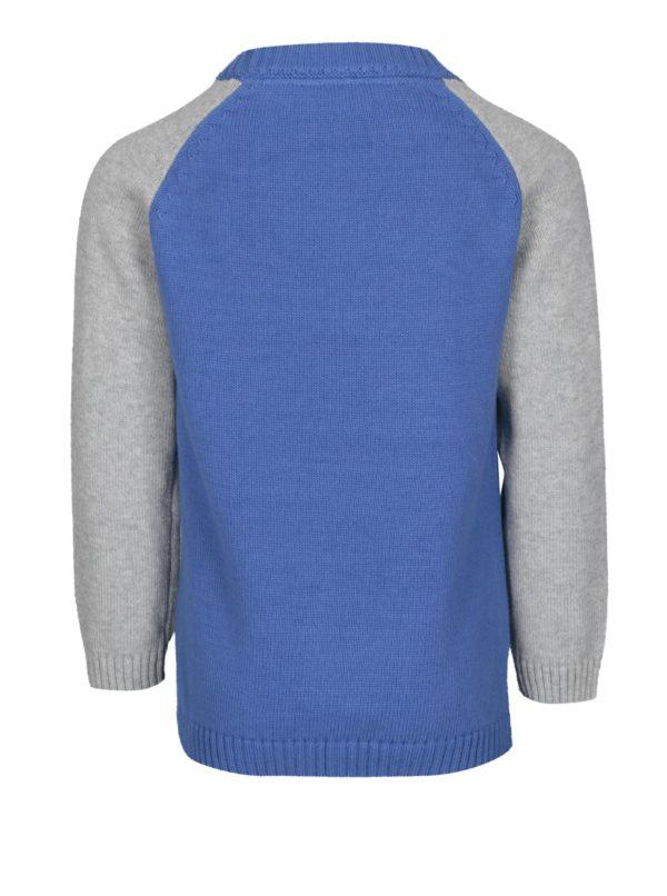 Sivo-modrý chlapčenský sveter s vlkom Tom Joule Howl