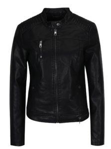 Čierna koženková bunda VERO MODA Soffy
