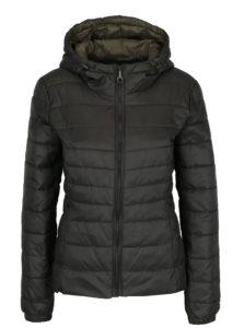 Kaki prešívaná bunda s kapucňou ONLY Tahoe
